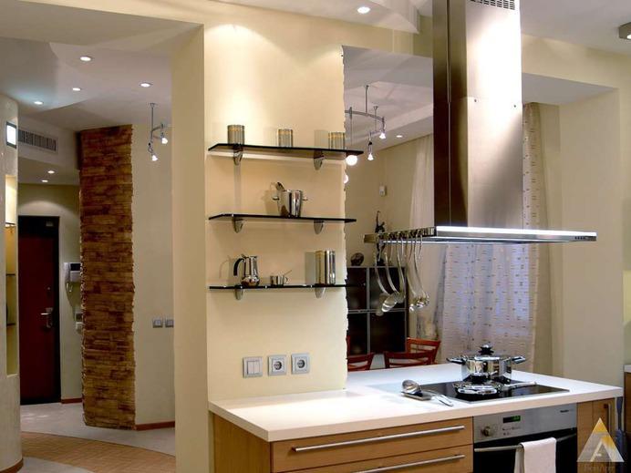 Школа ремонта гостиная кухня фото